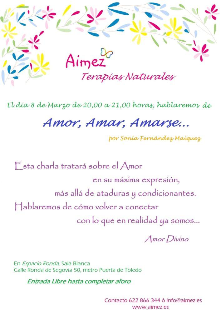 """Conferencia """"Amor, Amar, Amarse..."""" por Sonia Fernández"""