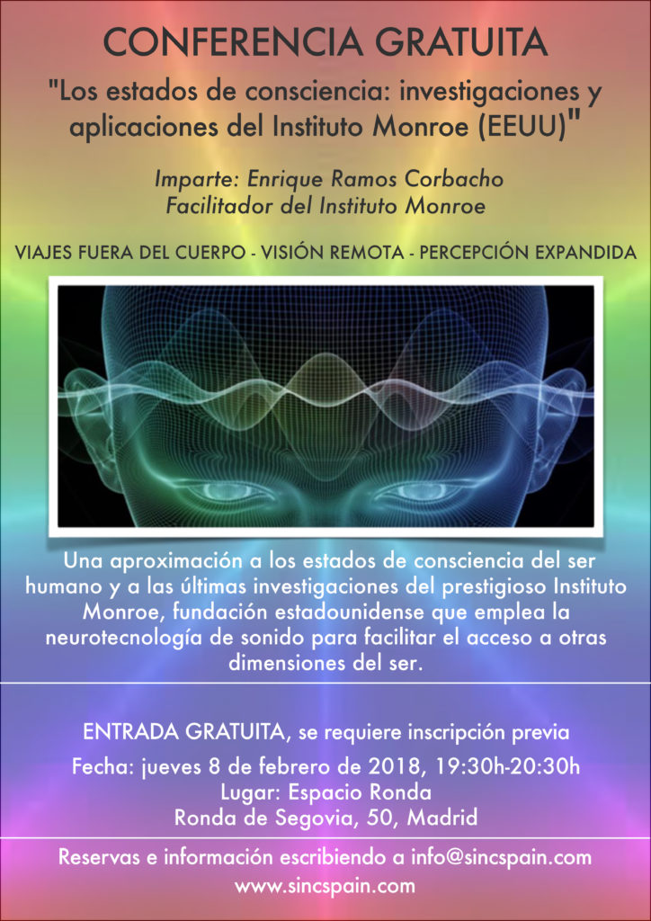 """Conferencia """"Los Estados profundos de consciencia: Las investigaciones y aplicaciones del Instituto Monroe"""""""