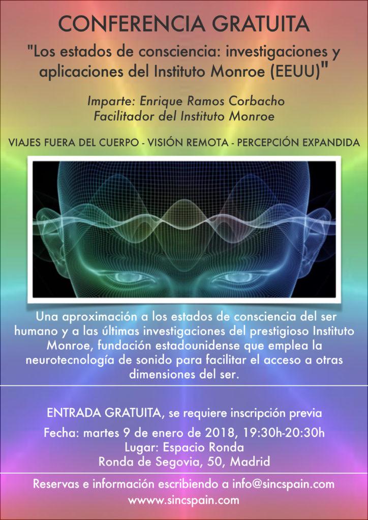 """Conferencia """"Los Estados Profundos de conciencia: Las investigaciones y aplicaciones del instituto Monroe"""""""