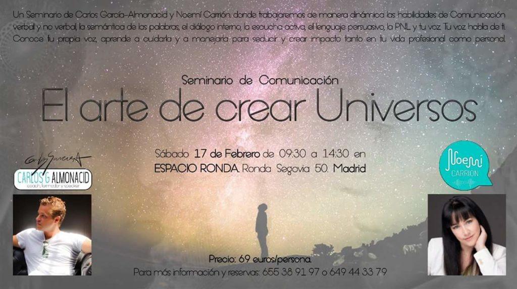 """Seminario de Comunicación """"El arte de crear Universos"""""""