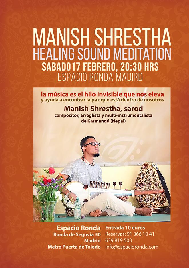 Concierto meditativo de Sarod con Manish Shrestha