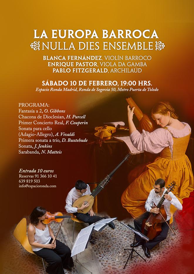"""""""La Europa barroca"""" un concierto de Nulla Dies Ensemble"""