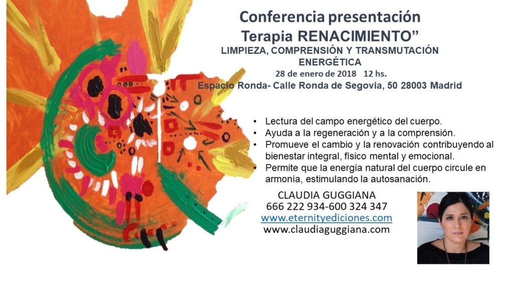 """Conferencia presentación Terapia """"Renacimiento"""""""