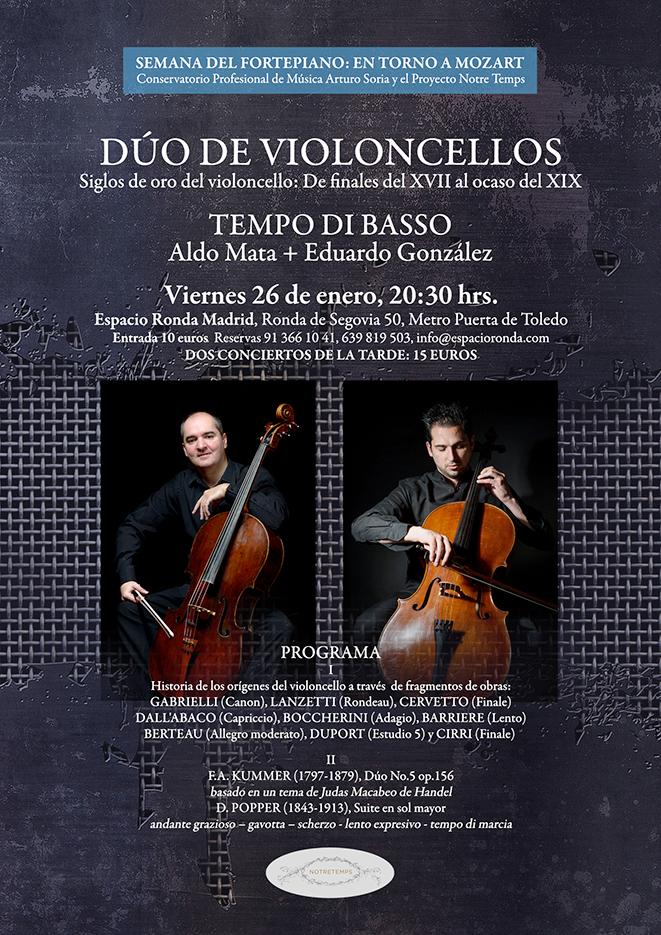 Concierto Dúo de Violoncellos con Aldo Mata y Eduardo González