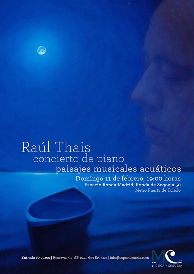 """Raúl Thais - Concierto de piano """"Paisajes musicales acuáticos"""""""
