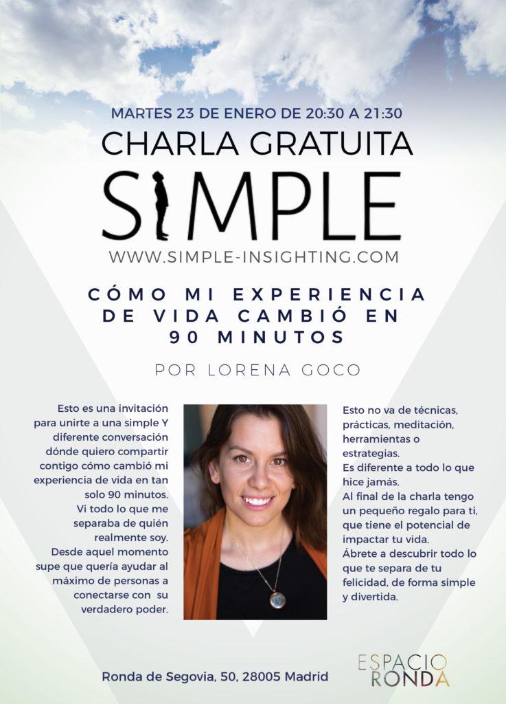 """Charla Gratuita """"Cómo mi experiencia de vida cambió en 90 minutos"""" por Lorena Goco"""