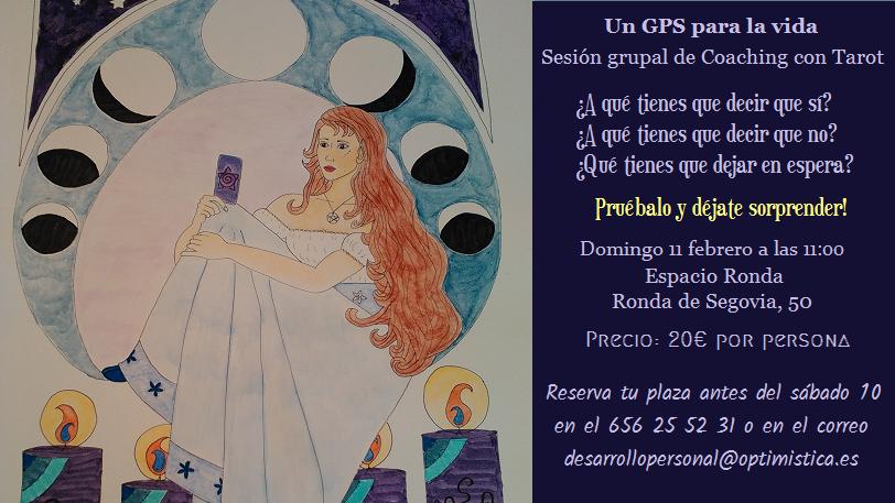 """Sesión grupal de Coaching con Tarot """"Un GPS para la vida"""""""