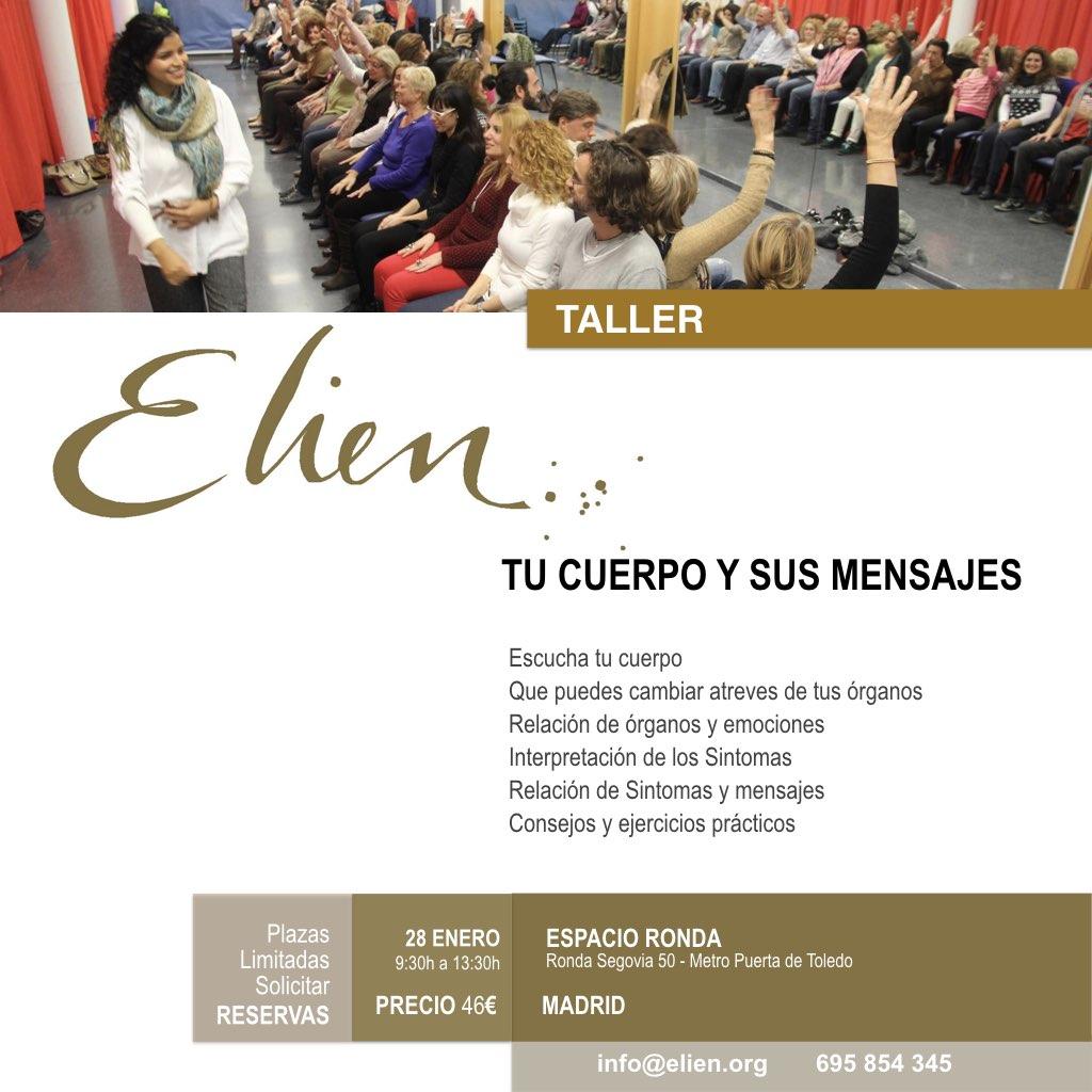 """Taller """"Tu cuerpo y sus mensajes"""" con Elien"""