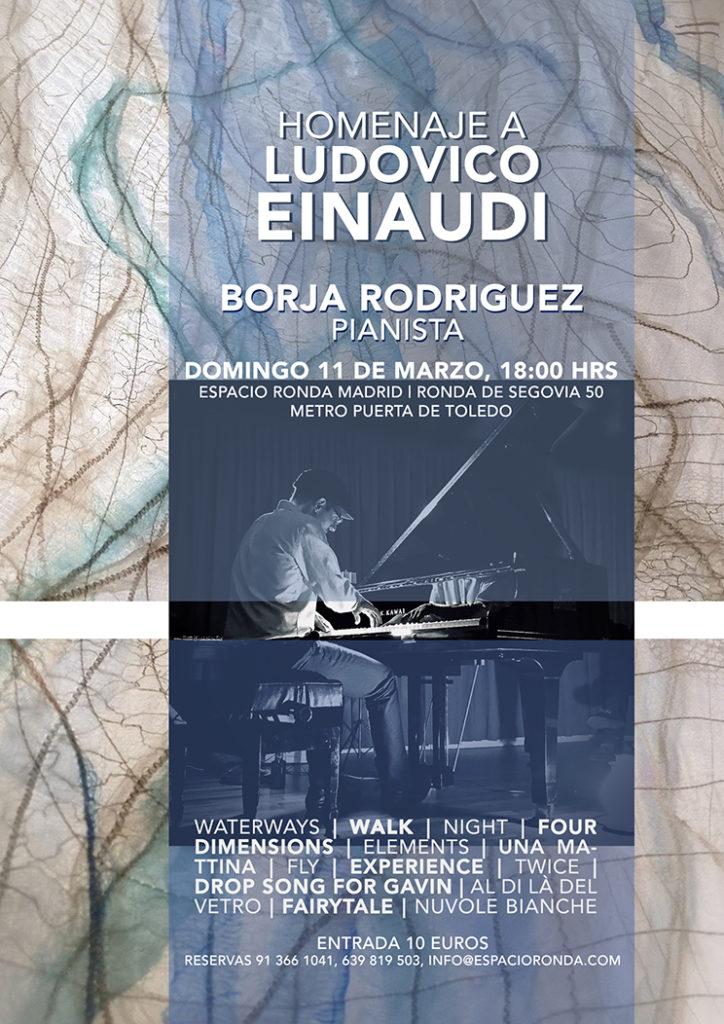 Homenaje a LUDOVICO EINAUDI a cargo de Borja Rodríguez