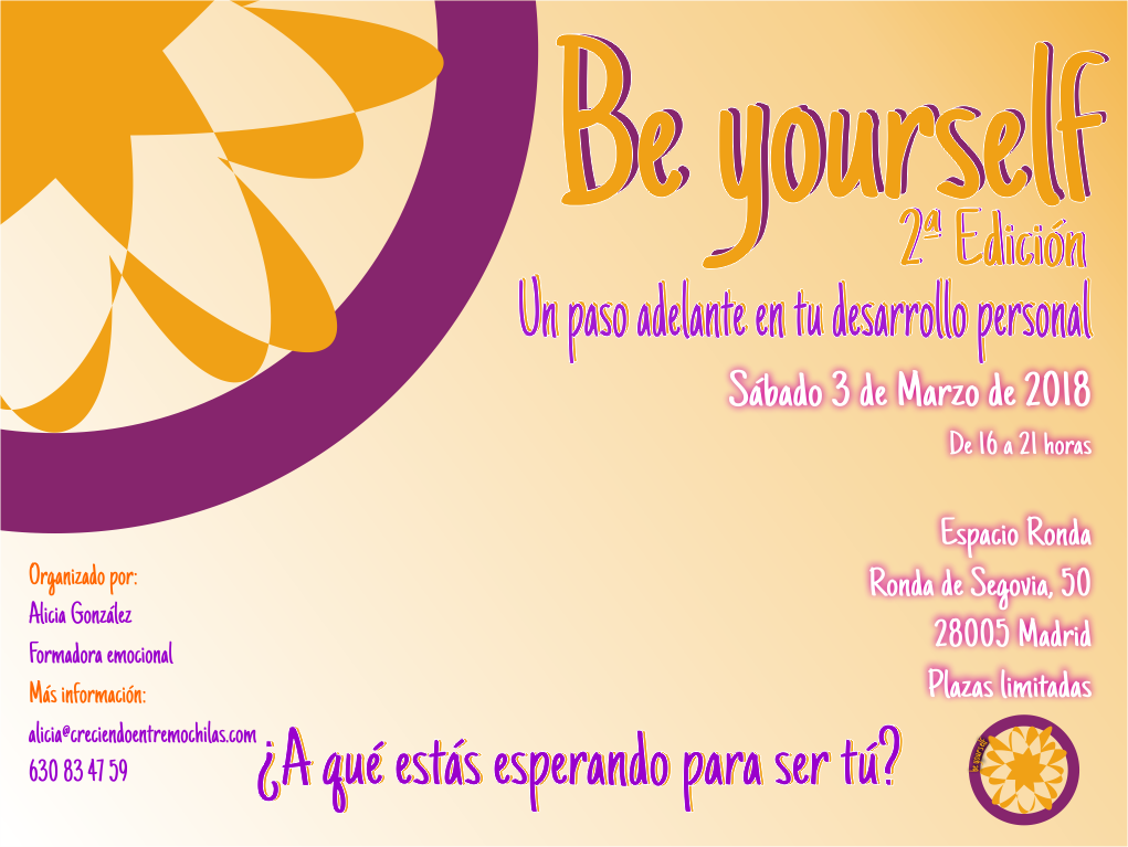 """""""Be Yourself"""" Un paso adelante en tu desarrollo personal"""