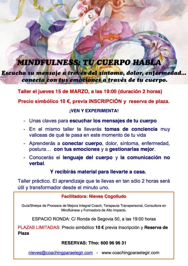 "Mindfulness ""Tu cuerpo habla"""