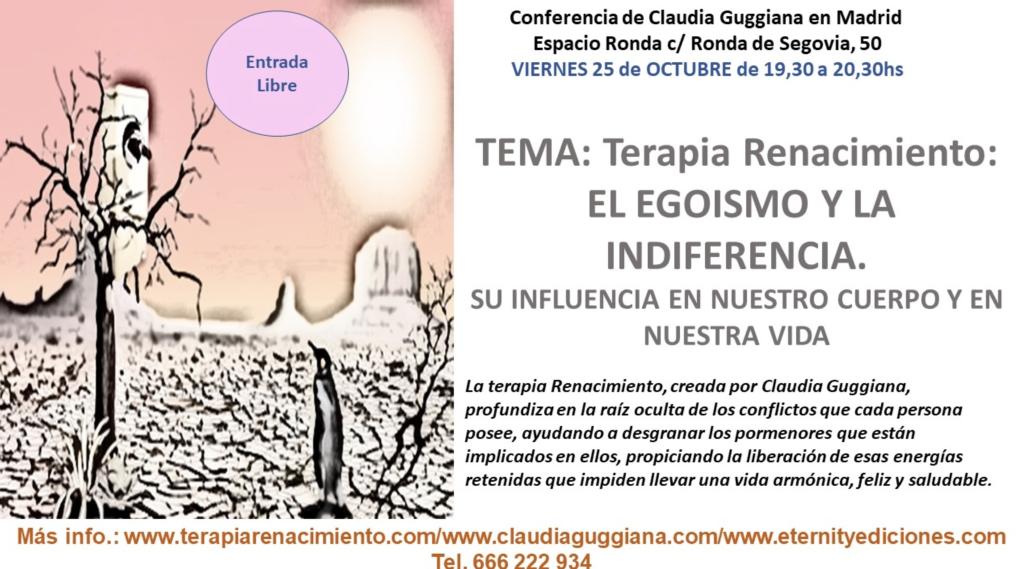 """Conferencia """"El Egoismo y la Indiferencia"""" con Claudia Guggiana"""