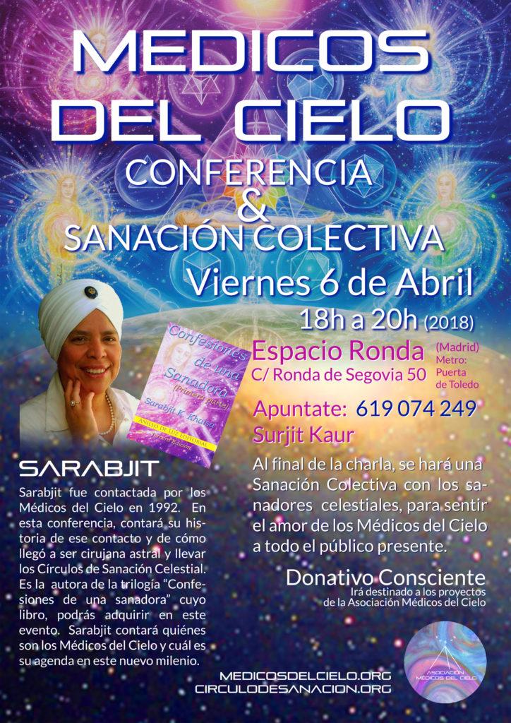 """Conferencia y sanación colectiva """"Medicos del Cielo"""""""