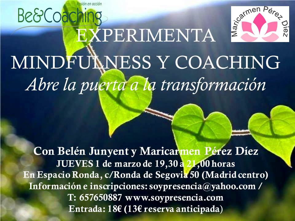 """Experimenta Mindfulness y Coaching """"Abre la puerta a la transformación"""""""