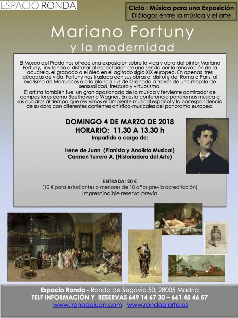 """Música para una exposición """"Mariano Fortuny y la modernidad"""""""