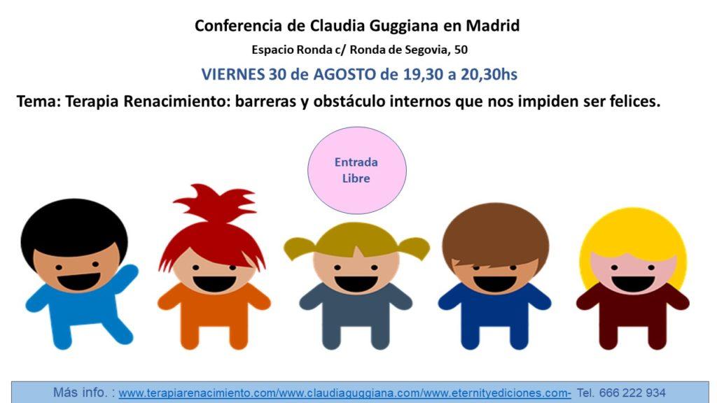 """Conferencia """"Terapia Renacimiento"""" con Claudia Guggiana"""