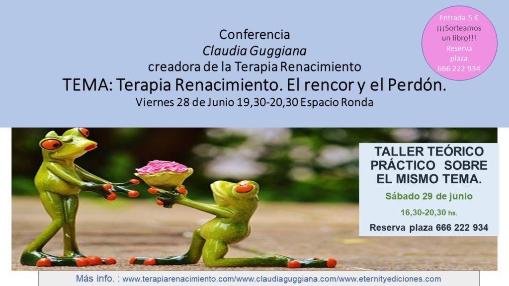 """Conferencia """"El Rencor y el Perdón"""" con Claudia Guggiana"""