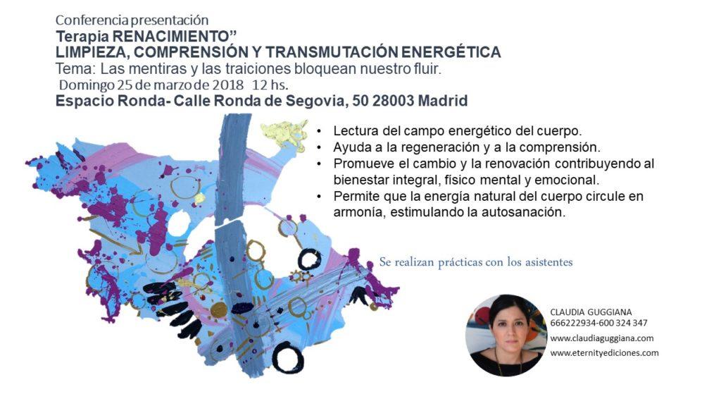 """Conferencia - presentación """"Terapias Renacimiento"""""""