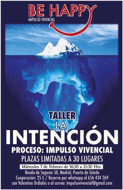 """Taller """"La Intención"""" impulso vivencial"""