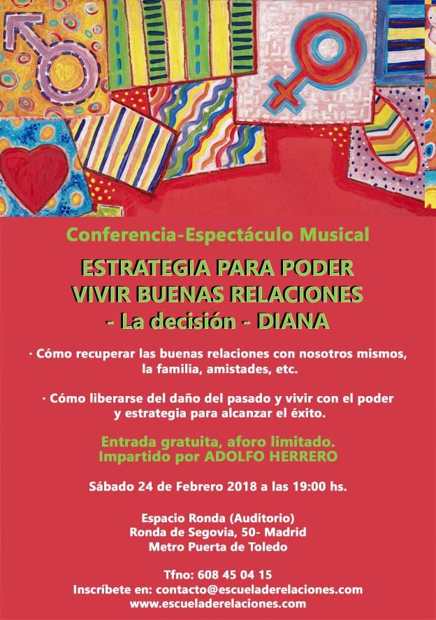 Conferencia - Espectáculo Musical, Estrategia para poder vivir buenas relaciones