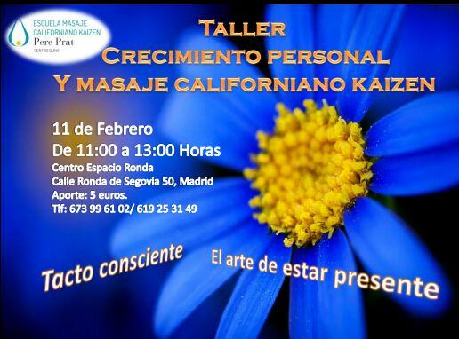 """Taller """"Crecimiento Personal y Masaje Californiano Kaizen"""""""