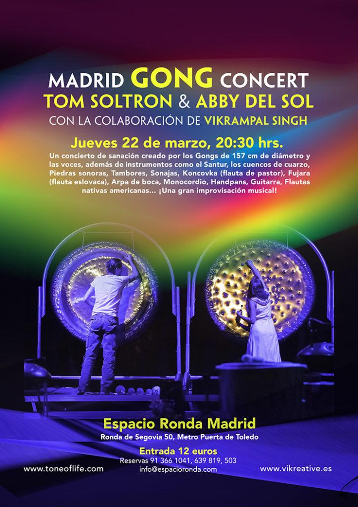 Madrid GONG Concert - Tom Solton & Abby del Sol, con la colaboración de Vikrampal Singh