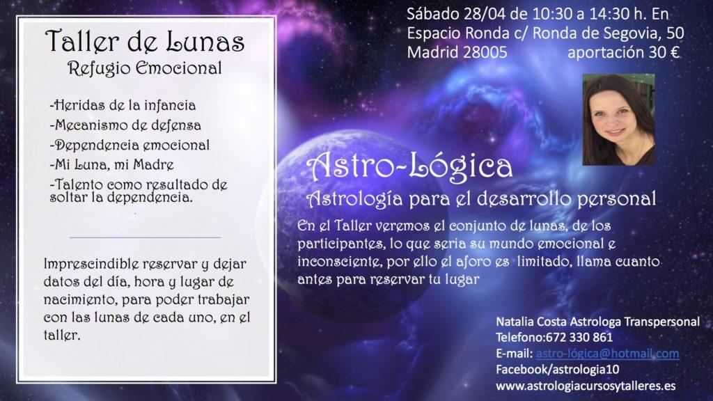 """Taller de Lunas """"Refugio Emocional"""" con Natalia Costa"""