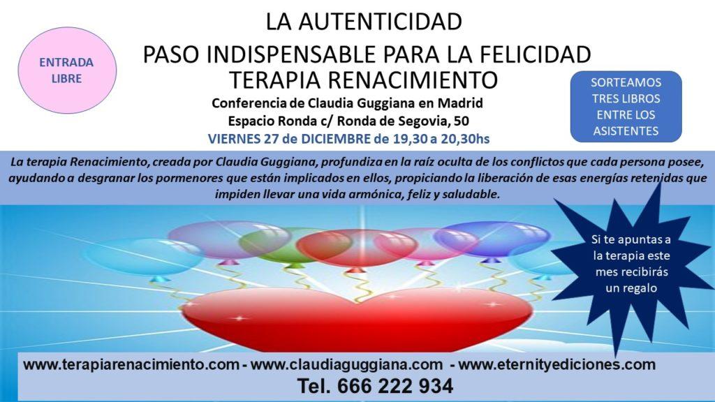 """Conferencia """"La Autenticidad"""" con Claudia Guggiana"""