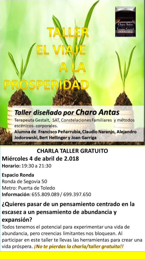 """Charla taller gratuito """"El Viaje a la Prosperidad"""""""