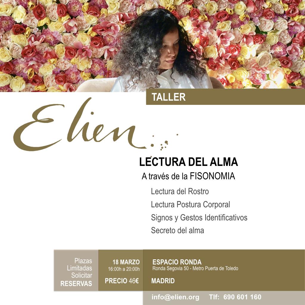 "Taller Elien ""Lectura del Alma a través de la Fisonomia"""