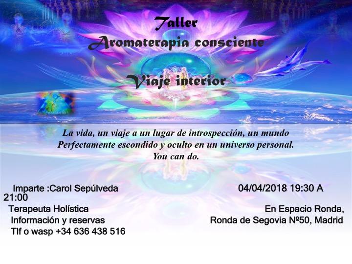 "Taller Aromaterapia Consciente ""Viaje Interior"""