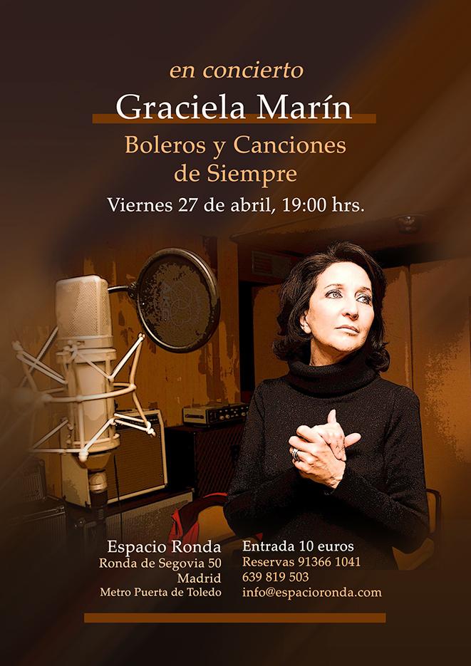 """Graciela Marín en concierto """"Boleros y Canciones de Siempre"""""""