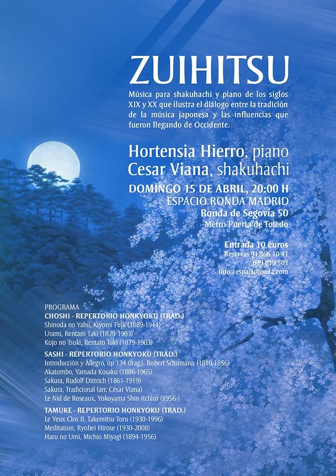 """""""ZUIHITSU"""" Música japonesa para shakuhachi y piano"""