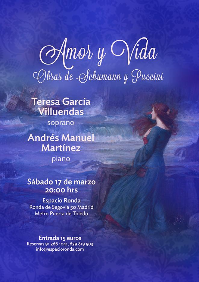 Recital de Canto y Piano: Amor y Vida, obras de Schumann y Puccini