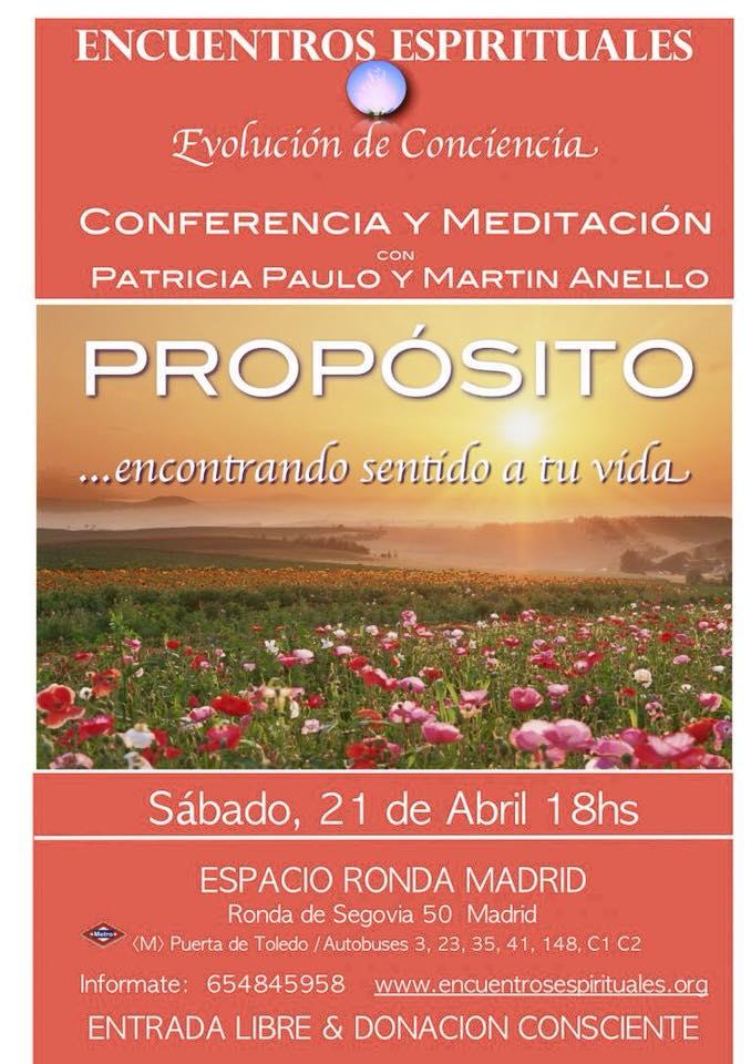 """Conferencia y meditación con Patricia Paulo y Martin Anello """"Proposito... encontrando sentido a tu vida"""""""