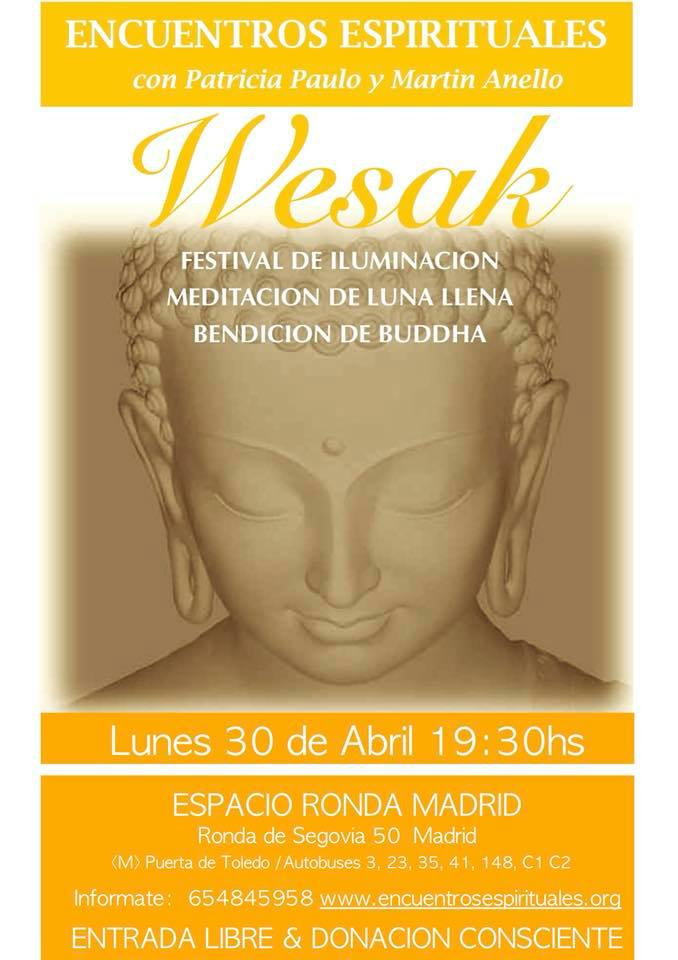 Festival de Iluminación - Meditación de Luna llena - Bendición de Buddha
