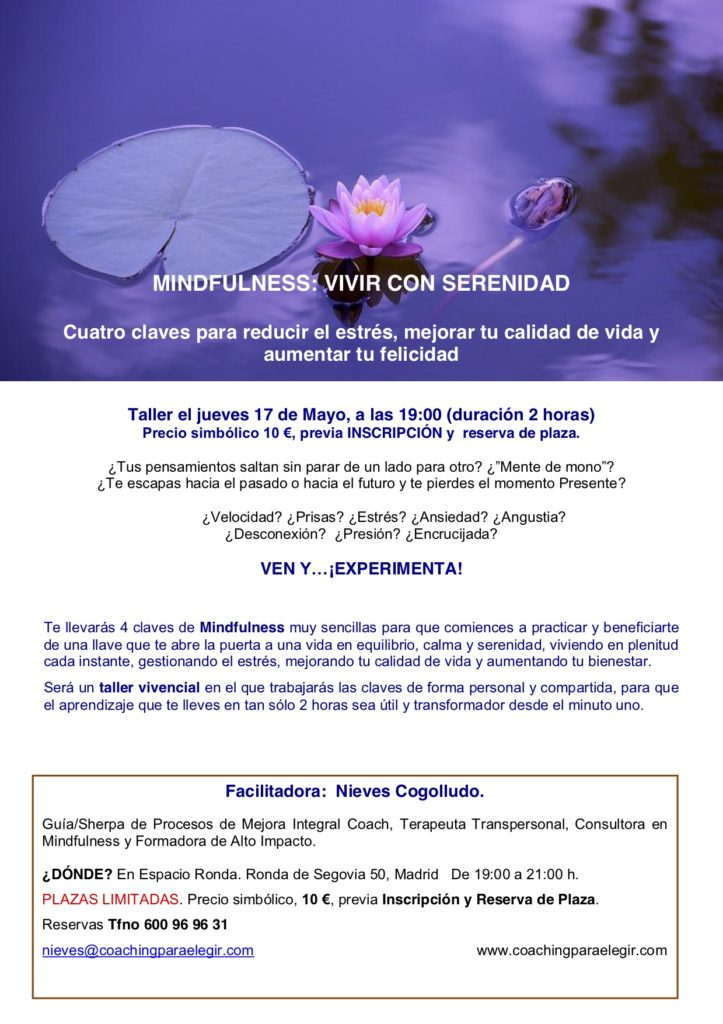 "Mindfulness ""Vivir con serenidad"""