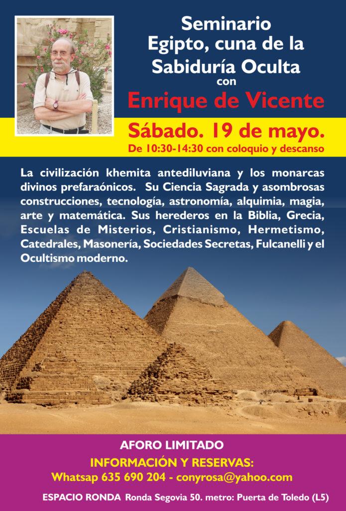 Egipto, cuna de la sabiduría oculta - Seminario con Enrique de Vicente