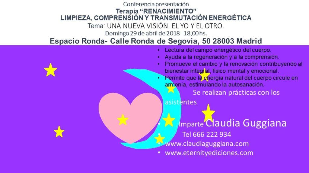 """Conferencia presentación - Terapia """"Renacimiento"""" Limpieza, comprensión y transmutación energética"""