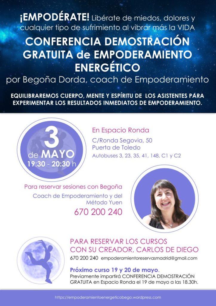 Conferencia demostración gratuita de Empoderamiento Energético