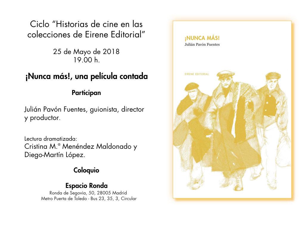 """Ciclo """"El cine en las colecciones de Eirene Editorial"""""""