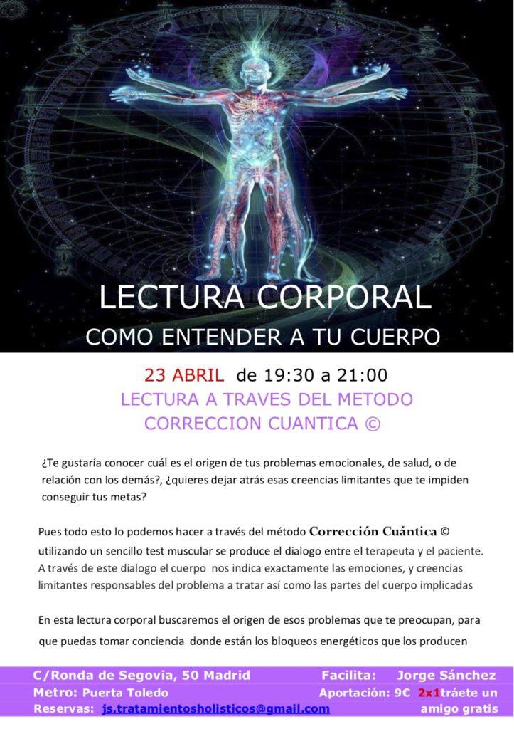 "Lectura Corporal ""Como entender a tu cuerpo"""