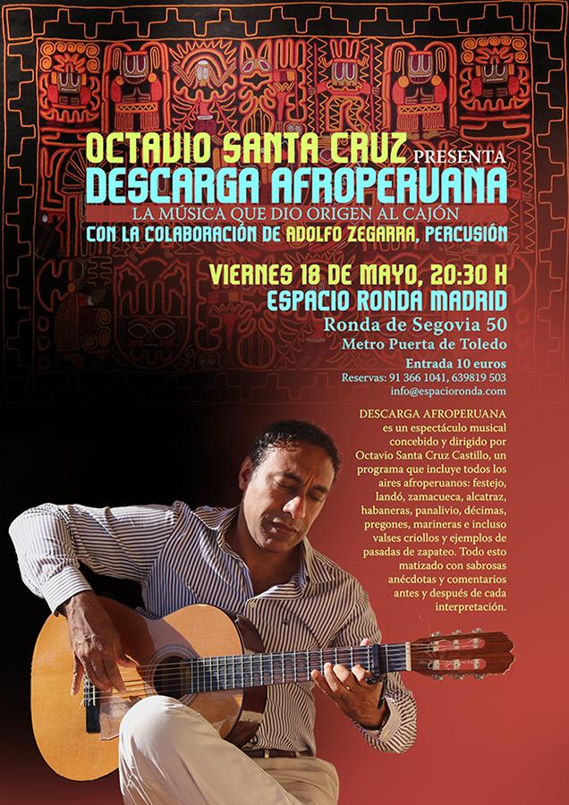 """Octavio Santa Cruz presenta """"Descarga Afroperuana"""""""