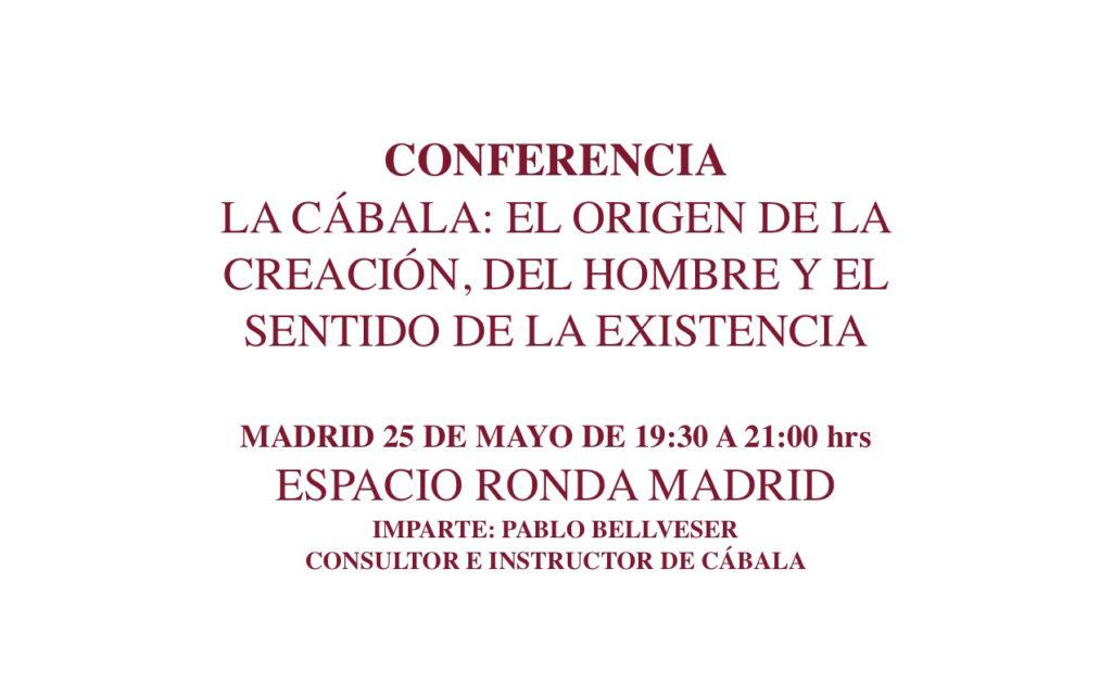Conferencia: La Cábala: El origen de la creación, del hombre y el sentido de la existencia