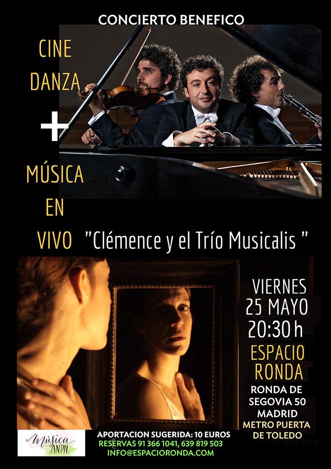 """Cine Danza + Musica en Vivo """"Clémence y el Trío Musicalis"""""""