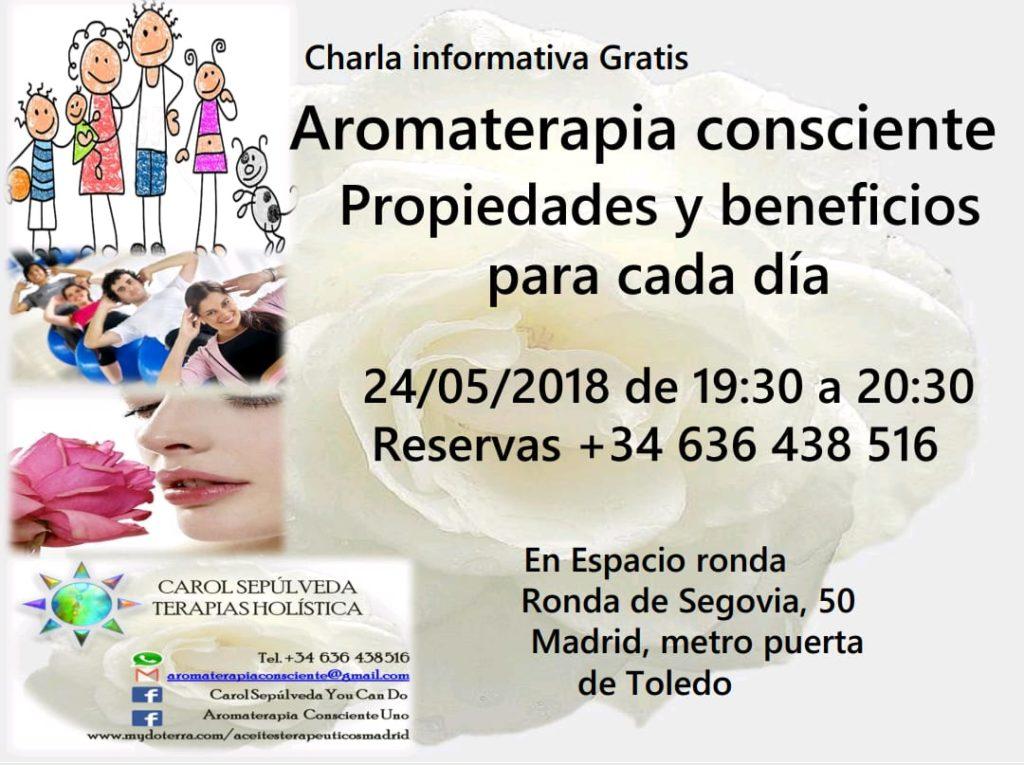 """Charla informativa gratuita """"Aromaterapia consciente"""""""