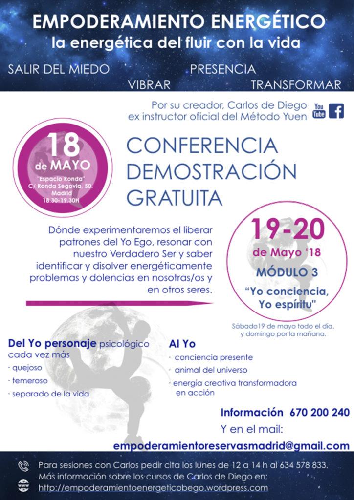 """Conferencia demostración gratuita """"Empoderamiento energético"""""""