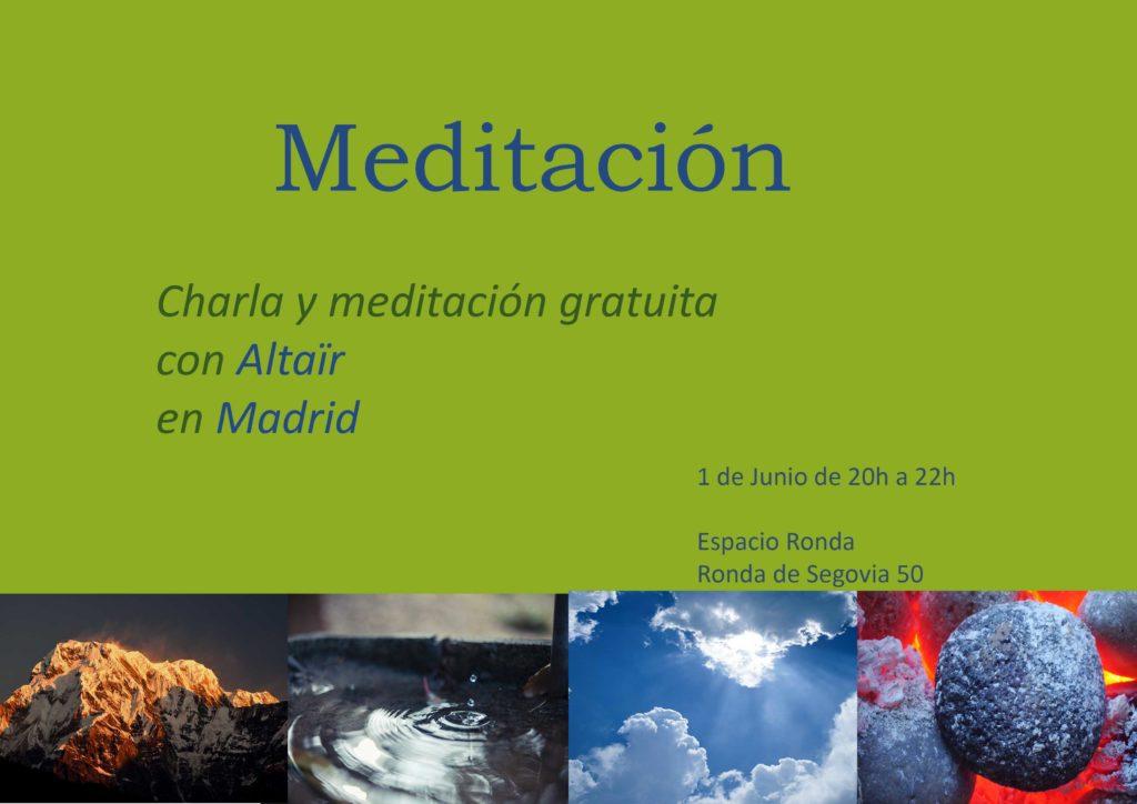 """""""Meditación"""" Charla y meditación gratuita con Altaïr"""