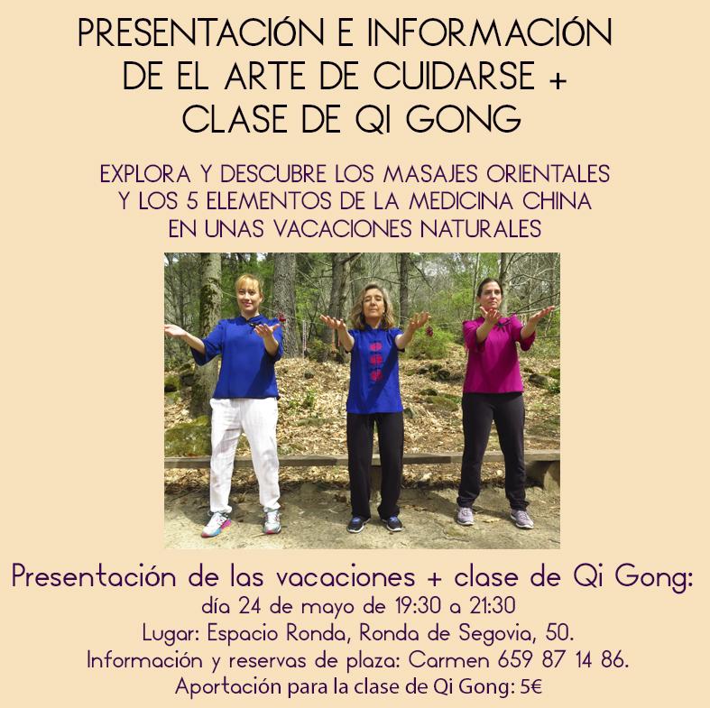 Presentación e información del arte de cuidarse + Clase de Qi Gong
