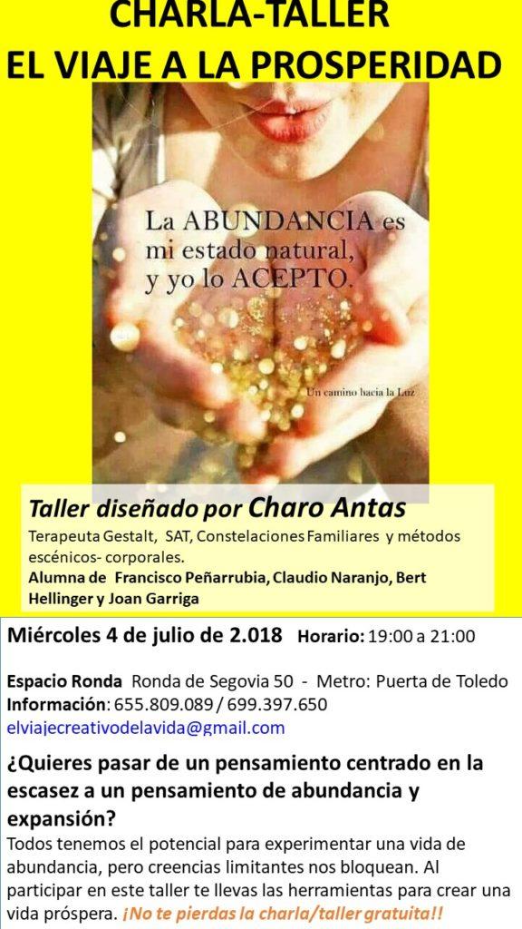 """Charla-Taller gratuito """"El viaje a la prosperidad"""""""